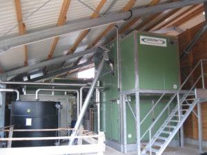 Biogasanlage von Innen Geiger